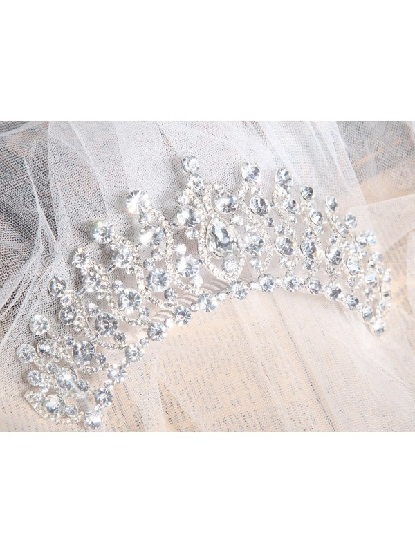 Elegant Alloy Clear Crystals Wedding Headpieces