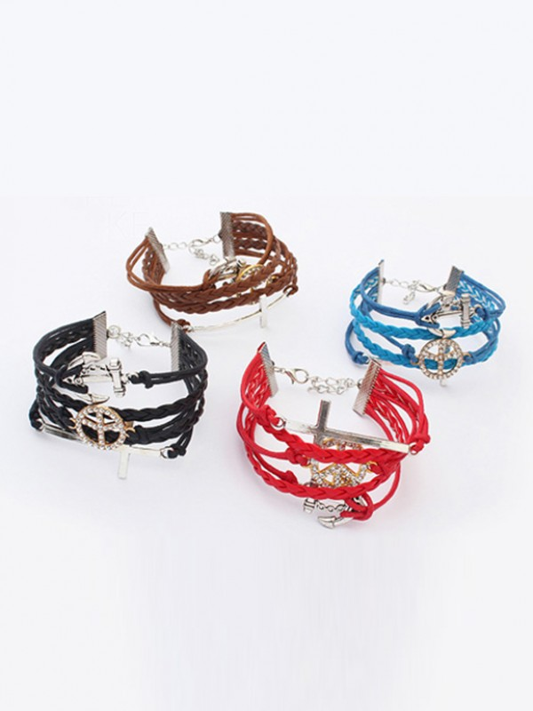 Westen Retro Anchor Cruciate woven Hot Sale Armbänder