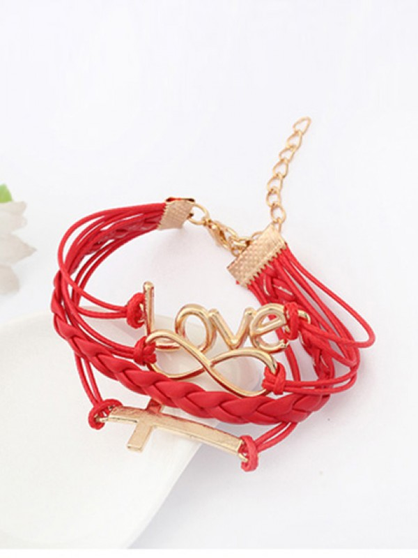 Korean version Romantisch Password love Cross Hot Sale Armbänder